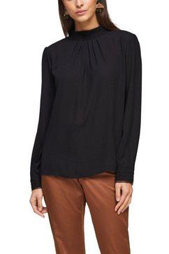 s.oliver black label blouse zonder sluiting zwart