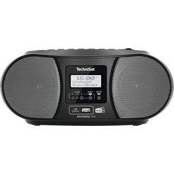 technisat boombox digitradio 1990 stereo- met dab+, fm, cd, bluetooth, usb, batterijvoeding mogelijk zwart
