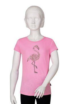 trigema t-shirt met glittermotief op de voorkant