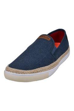 bugatti slip-on sneakers alfa met stretchinzet blauw