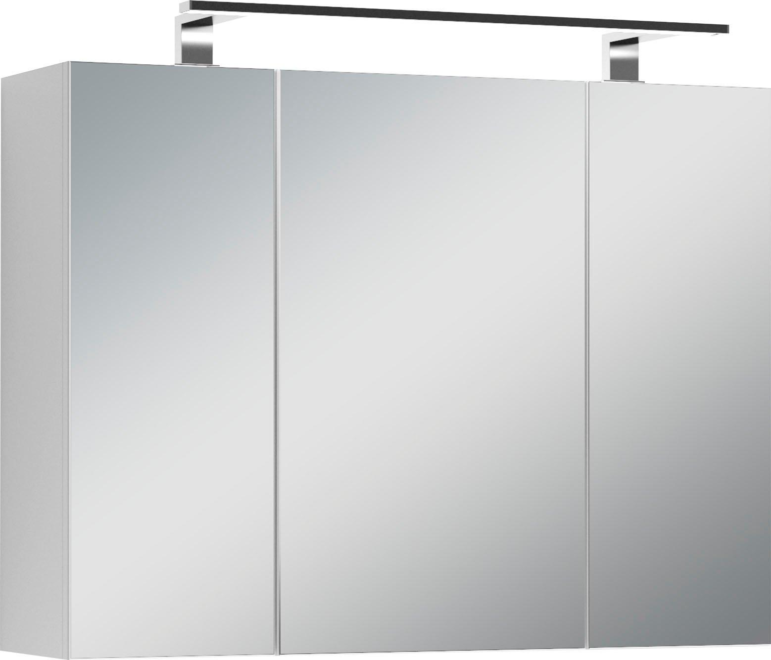 Homexperts spiegelkast Salsa Breedte 80 cm, met ledverlichting & schakelaar-/stekkerdoos online kopen op otto.nl