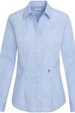 seidensticker schwarze rose klassieke blouse blauw