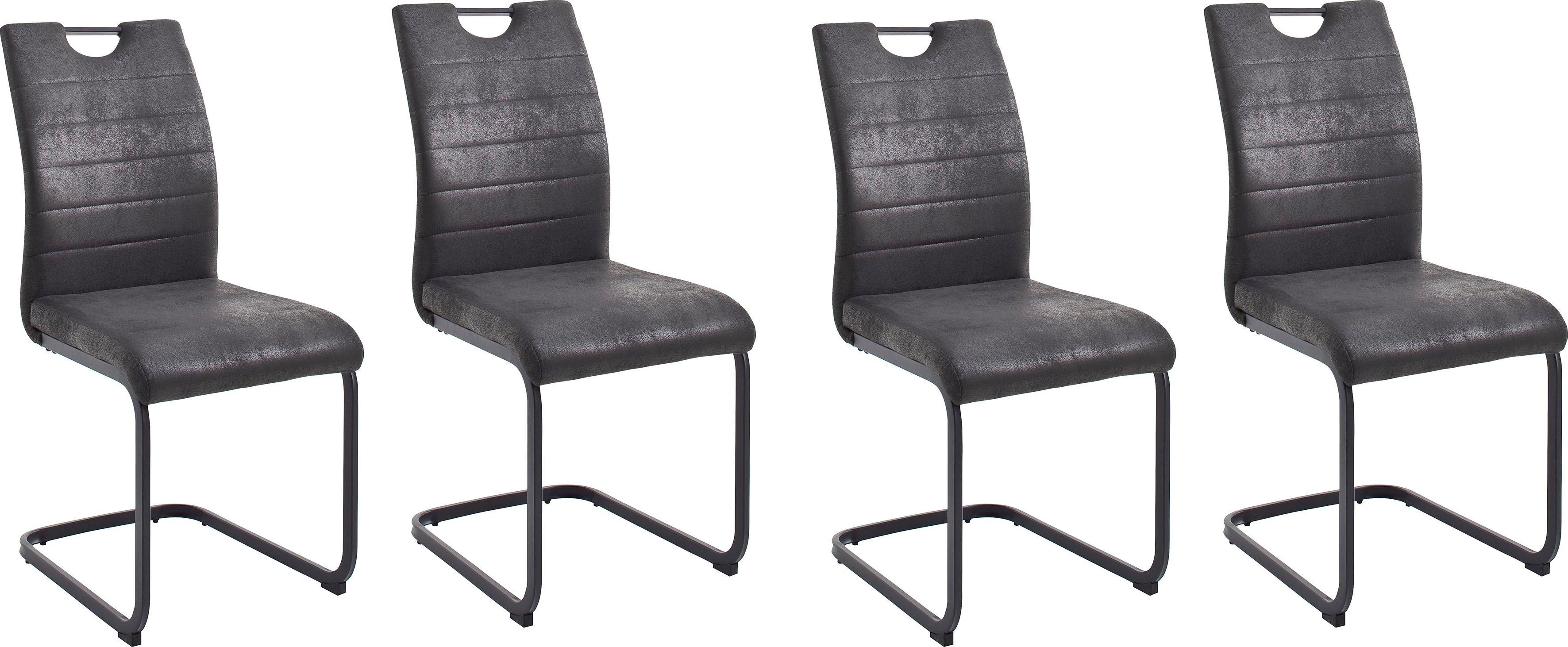 MCA furniture eetkamerstoel Bilbao met bekleding in vintage-look, belastbaar tot 120 kg (set, 4 stuks) veilig op otto.nl kopen