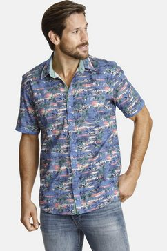 shirtmaster overhemd met korte mouwen »attheoasis« blauw