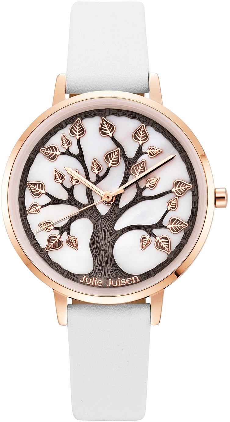 Julie Julsen kwartshorloge Tree of Life Rosé White, JJW0927RGL-9 online kopen op otto.nl