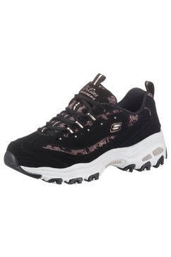 skechers sneakers »d´lites - fancy leopard« zwart