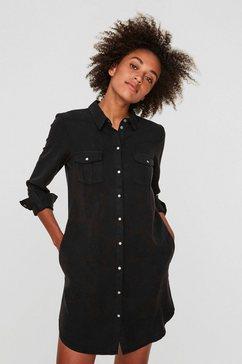 vero moda jeansjurk »silla« zwart