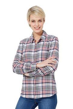casual looks flanellen blouse grijs
