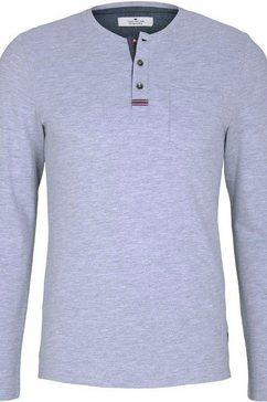 tom tailor shirt met 3-4-mouwen grijs