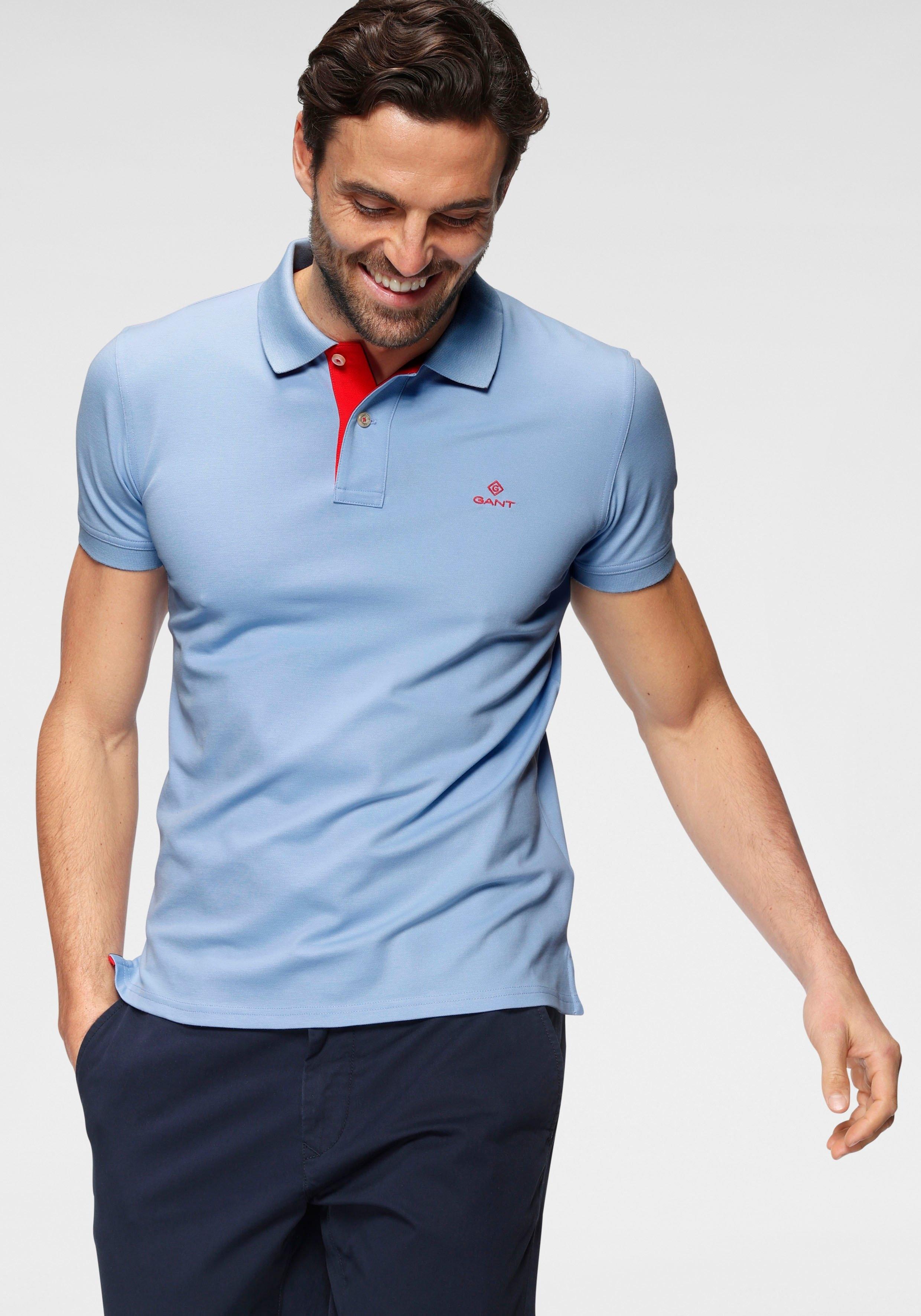 Gant Poloshirt CONTRAST COLLAR PIQUE RUGGER vormvast door elastan bij OTTO online kopen