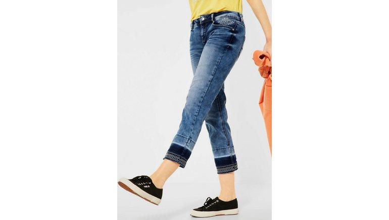STREET ONE 7/8 jeans Kate met borduursels