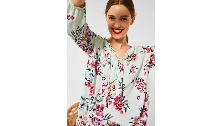 STREET ONE shirt met 3/4-mouwen in tuniekstijl