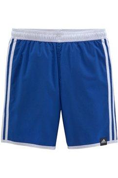 adidas performance zwemshort met contraststrepen blauw