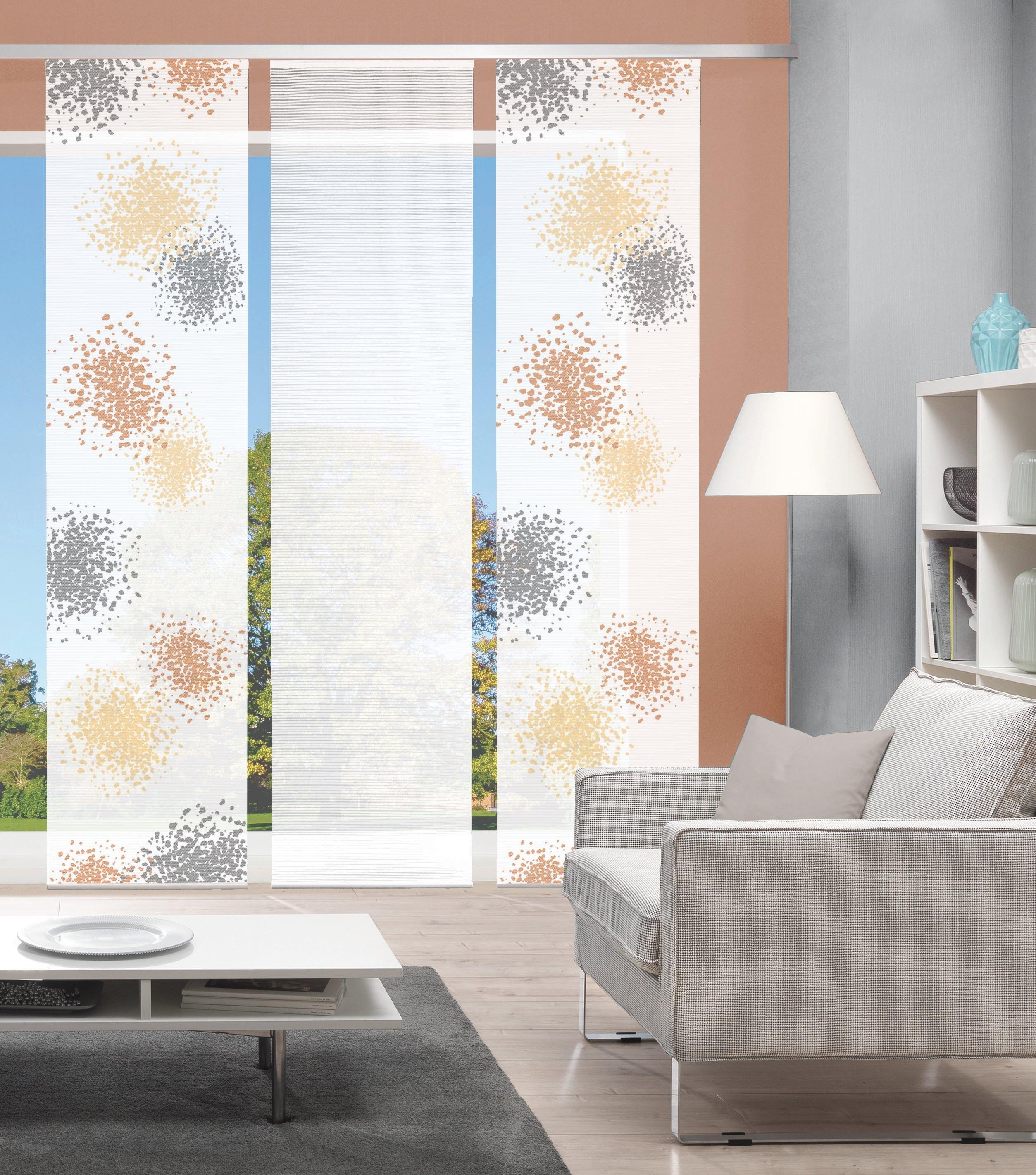 Vision Paneelgordijn SPOTTI set van 3 Bamboe-look, digitaal bedrukt (3 stuks) veilig op otto.nl kopen