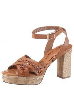 tamaris highheel sandaaltjes beet bruin