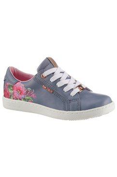 tom tailor sneakers met veelkleurige bloemenprint paars
