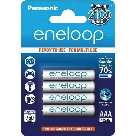 Sanyo 1x4 Panasonic Eneloop Micro AAA 750 mAh (BK-4MCCE-4BE)