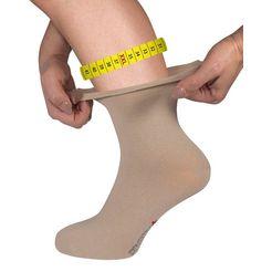fussgut gezondheidssokken sensitiv elegant sokken xxl wijde schacht, rolboord (1 paar) beige
