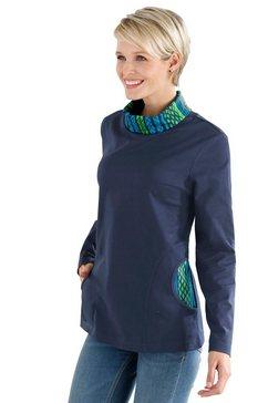 classic basics sweatshirt met contrastkleurige details blauw