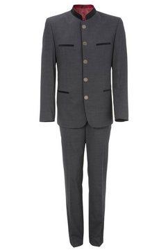 murk pak heren, met een opstaande kraag en paspelzakken in fluwelige look (set) grijs