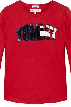tommy hilfiger shirt met lange mouwen rood