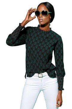creation l blouse met lange mouwen groen