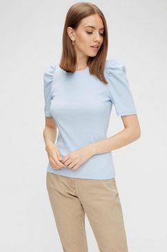 pieces shirt met ronde hals »pcanna« blauw
