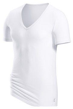 s.oliver red label beachwear t-shirt met een diepe v-hals wit