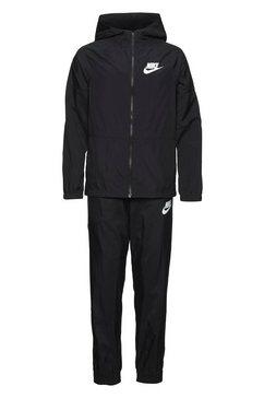 nike sportswear trainingspak »nike sportswear big kids' woven tracksuit« zwart