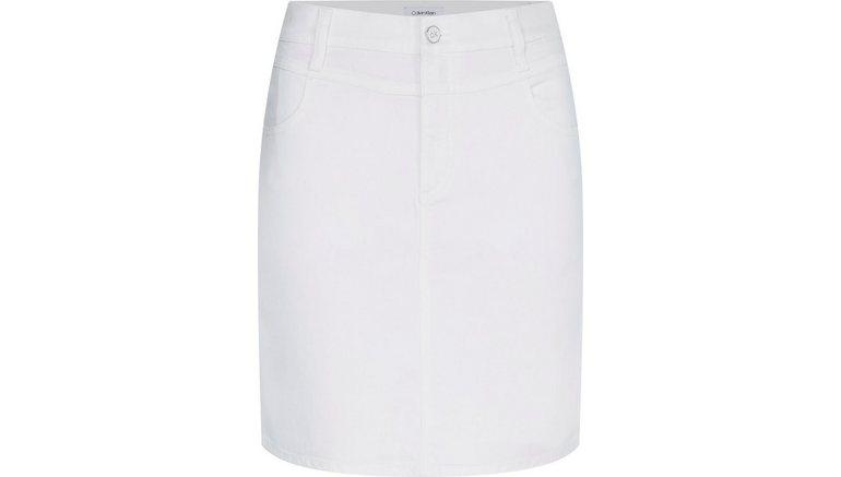 Calvin Klein jeansrok MID RISE DENIM MINI SKIRT met kleine pas voor