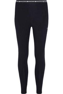 calvin klein performance functionele legging wo - cotton elastane tight met calvin klein elastische band  ck-logo zwart
