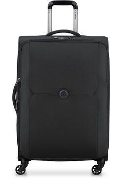 delsey zachte trolley mercure, 68 cm, black met volume-uitbreiding zwart