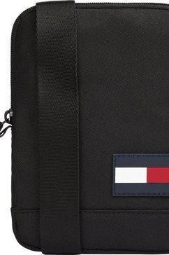 tommy hilfiger schoudertas tommy core compact crossover in mini-formaat zwart