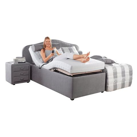 Bed koudschuim H2+ elektrisch verstelbare bedbodem grijs Maintal 173397