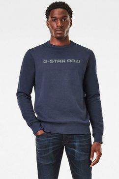 g-star raw sweatshirt »ashor sweat« blauw