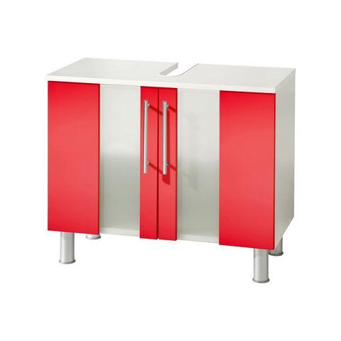 KESPER Wastafelonderkast Visby met poten rode badkamer onderkast 171