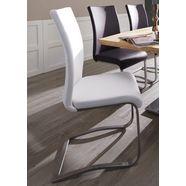 mca furniture vrijdragende stoel arco set van 2, 4 en 6 stuks, stoel belastbaar tot 130 kg (2 stuks) wit