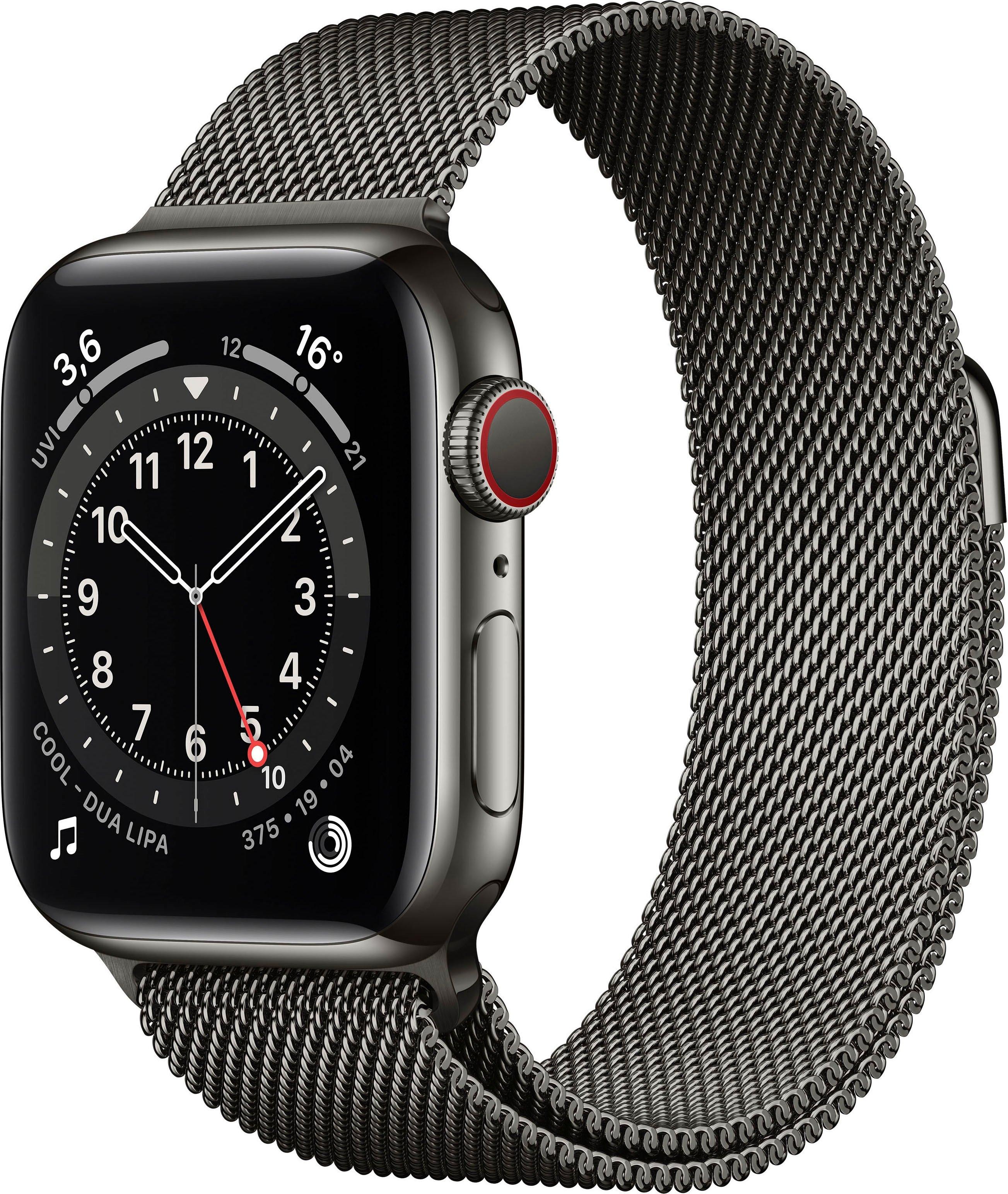 Apple watch Series 6 gps + Cellular, edelstalen kast met milanaisebandje 40 mm inclusief oplaadstation (magnetische oplaadkabel) bij OTTO online kopen