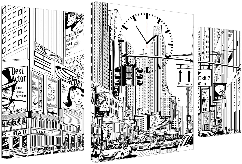 Conni Oberkircher´s Wanddecoratie Drawing city met decoratieve klok (set) bij OTTO online kopen