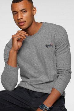 superdry shirt met lange mouwen »ol vintage emb ls top ns,« grijs