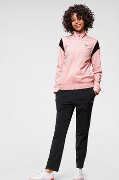 puma trainingspak classic tricot suit op (set, 2-delig) roze