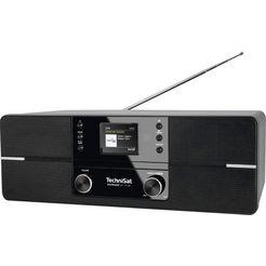 technisat digitale radio (dab+) digitradio 371 cd bt stereo cd, bluetooth, kleurendisplay, usb zwart
