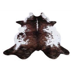 my home vachtvloerkleed emil imitatiebont, koeienhuid-look, woonkamer bruin