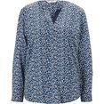 tom tailor blouse zonder sluiting blauw