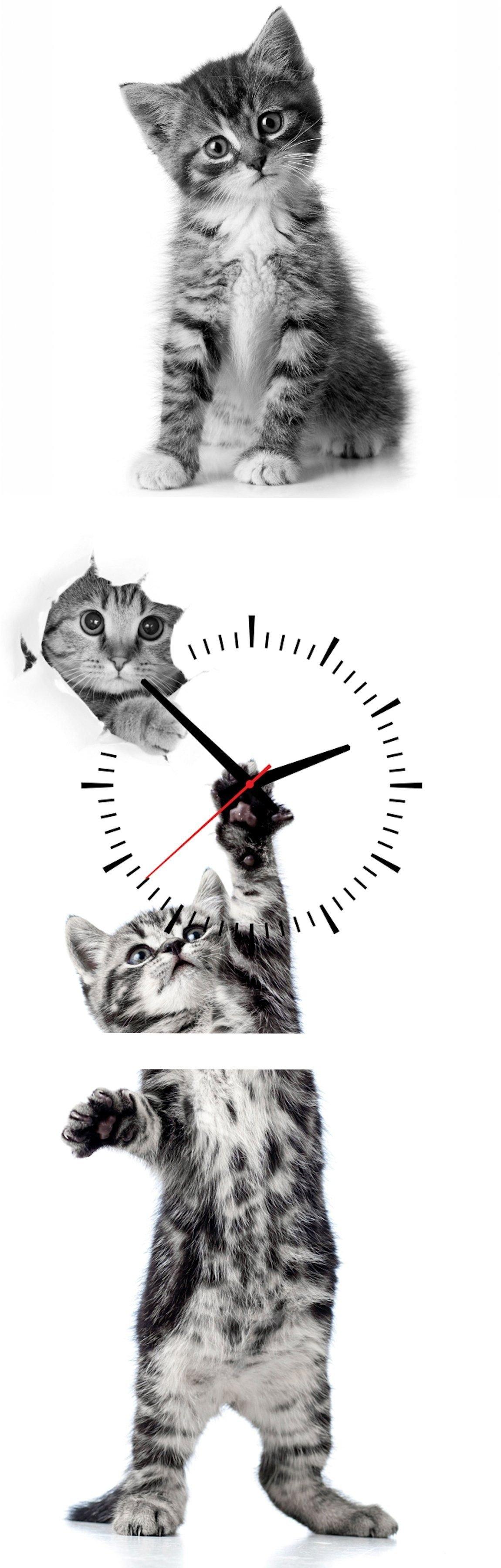 Conni Oberkircher´s Wanddecoratie Kitty met decoratieve klok (set) nu online bestellen