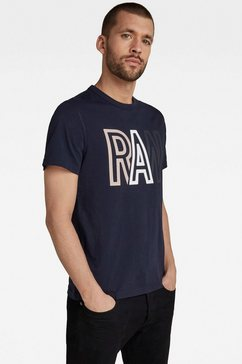 g-star raw shirt met ronde hals »raw r t-shirt« blauw