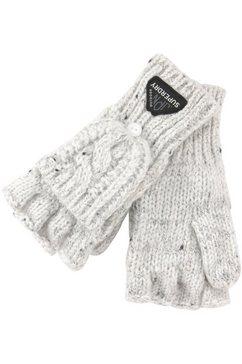 superdry gebreide handschoenen gracie cable glove (1) wit