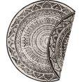bougari vloerkleed »siruma«, bougari, rond, hoogte 5 mm, machinaal geweven zwart