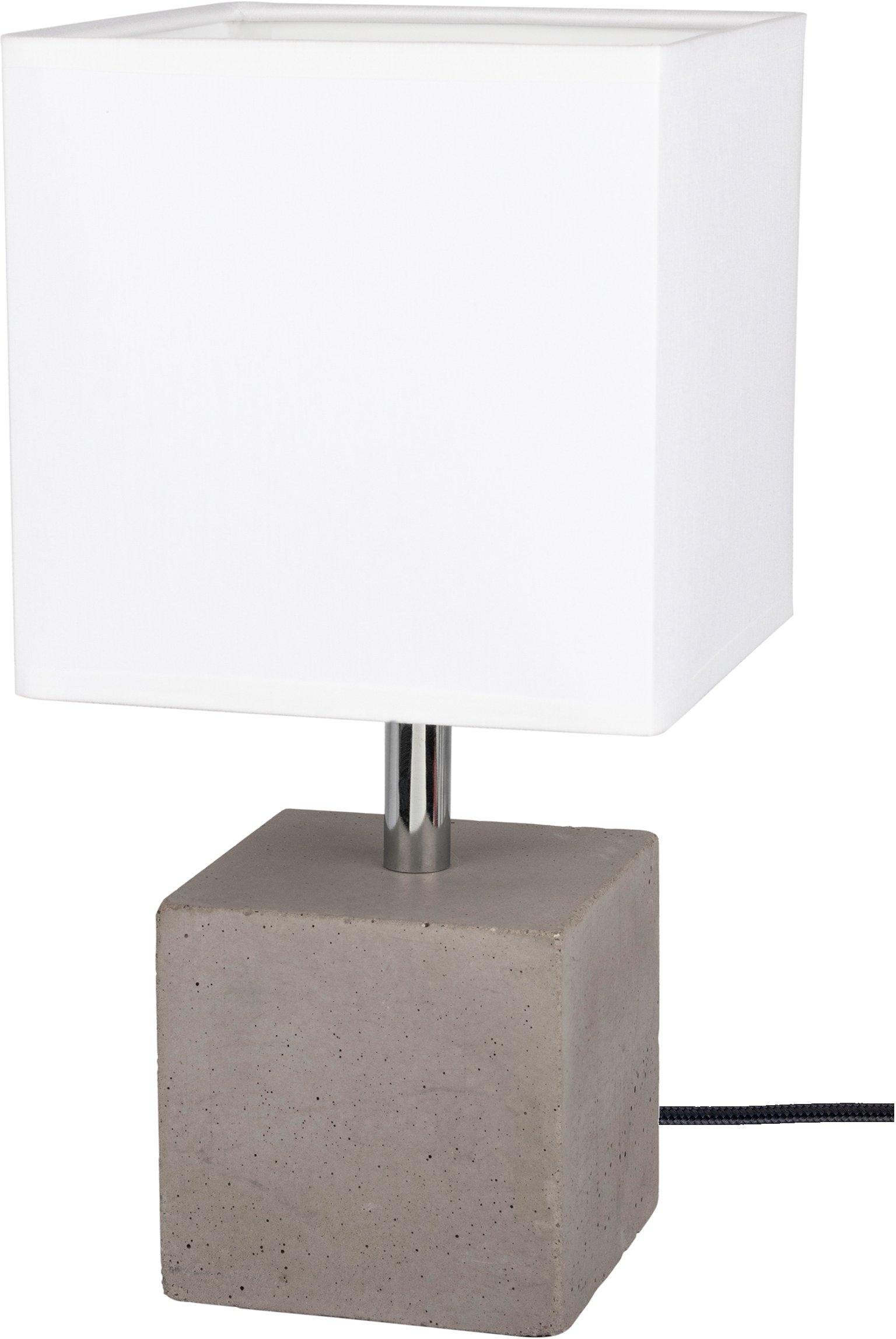 SPOT Light tafellamp Strong Echt beton - met de hand gemaakt, lampenkap van stof, natuurproduct - duurzaam, Made in Europe (1 stuk) online kopen op otto.nl