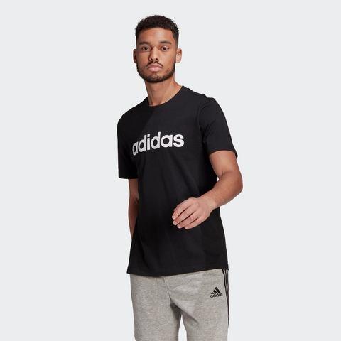 adidas Essentials embroidered linear logo shirt zwart heren Heren
